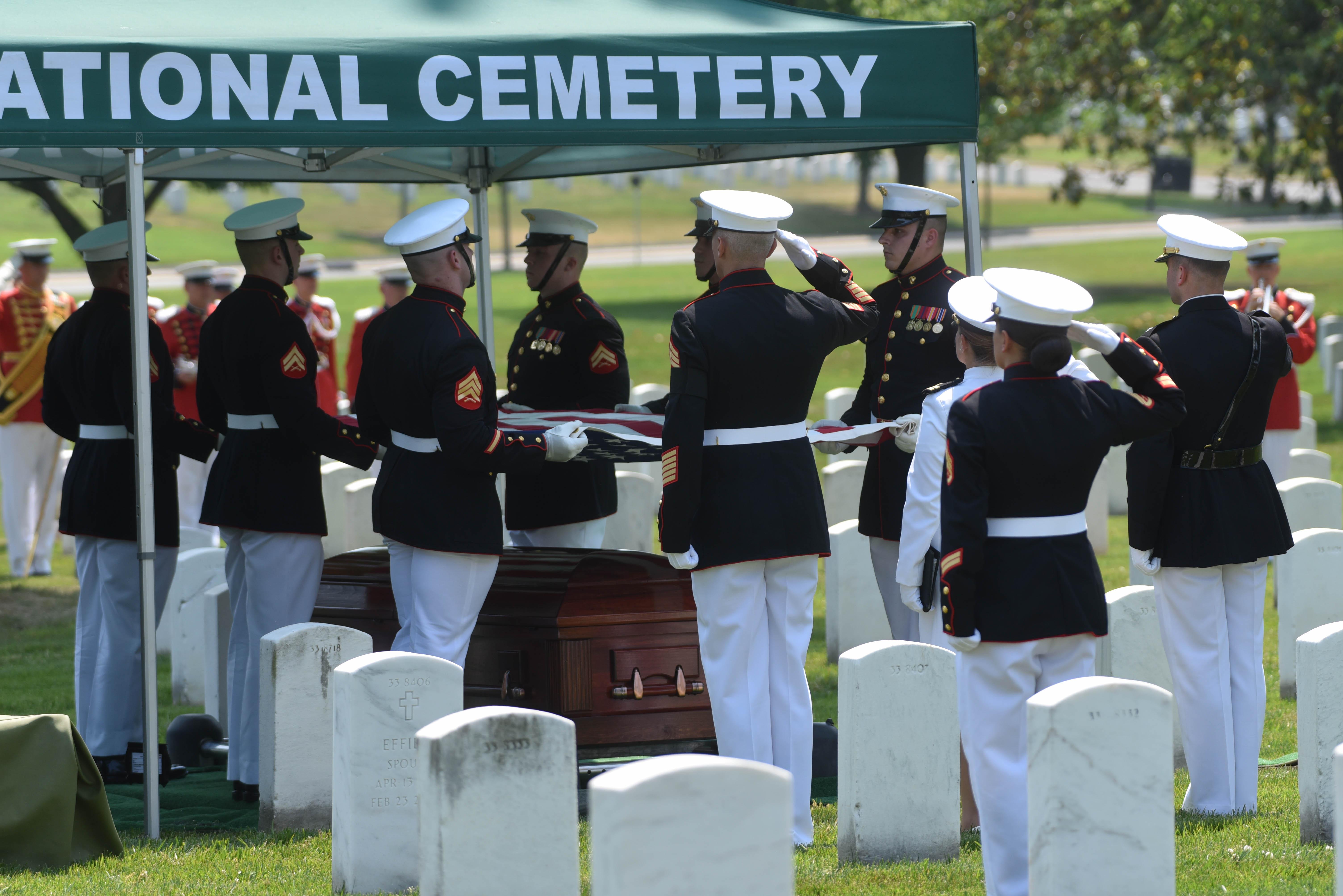 World War II Marine Funeral at Arlington