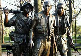 Three Servicemen Statue at the Vietnam Veterans' Memorial
